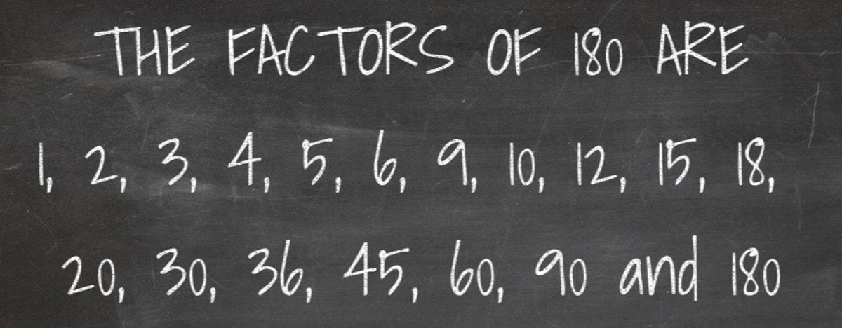 Factors of 180