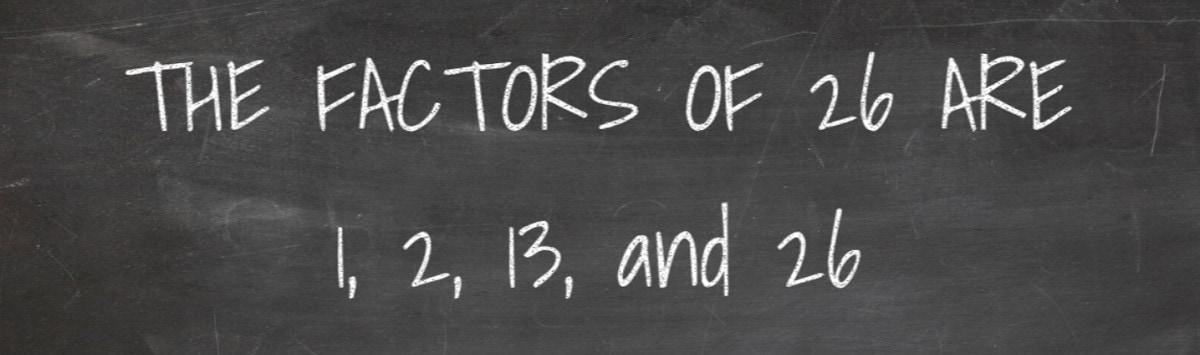 Factors of 26