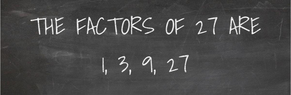 Factors of 27