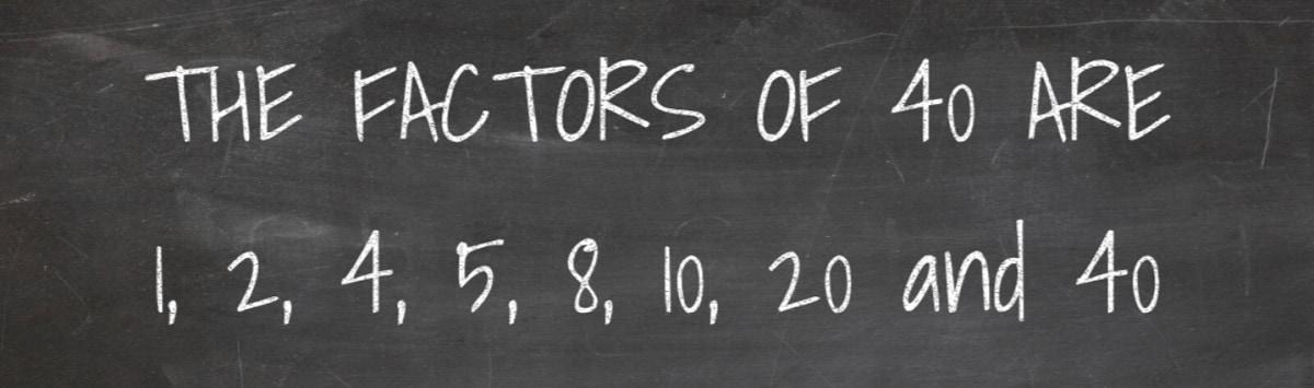 Factors of 40