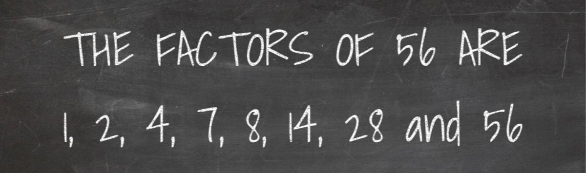 Factors of 56