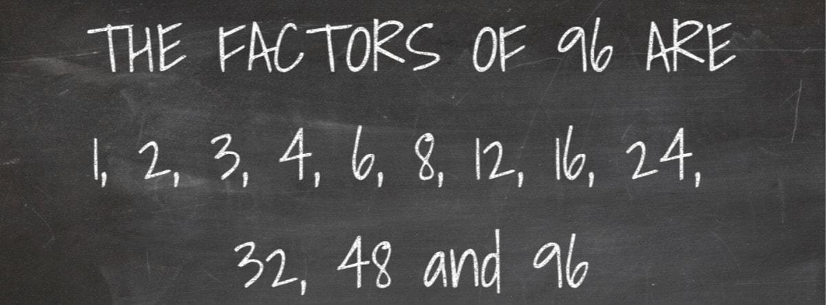 Factors of 96