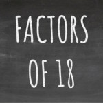 The Factors of 18 Cover