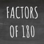 The Factors of 180 Cover