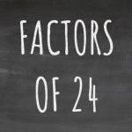 The Factors of 24 Cover