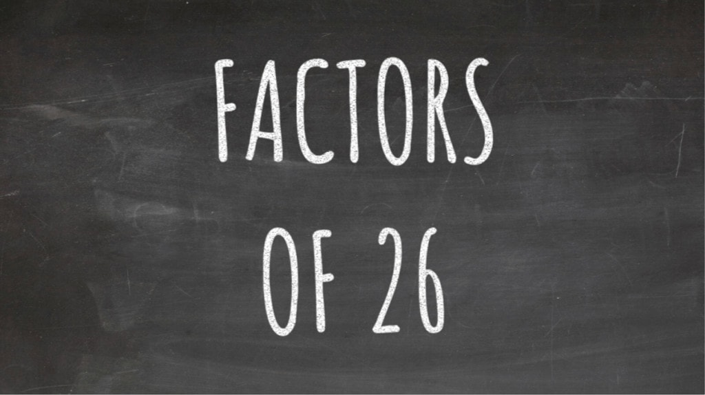 The Factors of 26 Cover