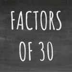The Factors of 30 Cover