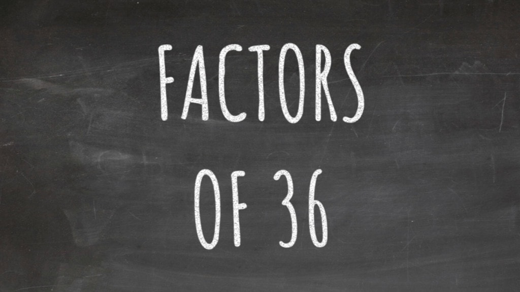 The Factors of 36 Cover