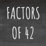 The Factors of 42 Cover
