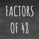 The Factors of 48 Cover