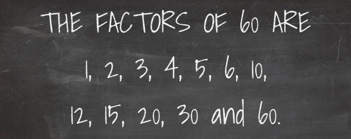 Factors of 60