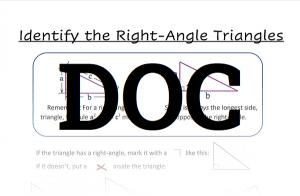 Pythagorean theorem worksheet 1 doc download