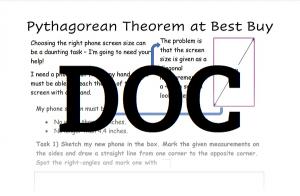 Pythagorean Theorem Worksheet 4 DOC Download