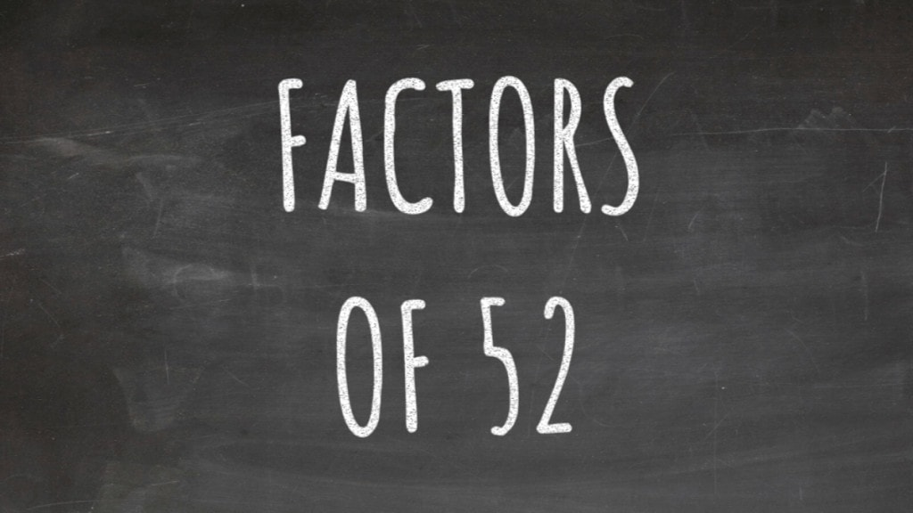 The Factors of 52 Cover