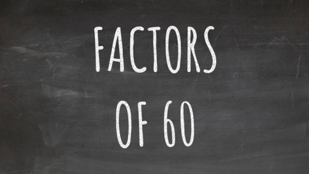 The Factors of 60 Cover