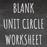 Blank Unit Circle Worksheet Blackboard