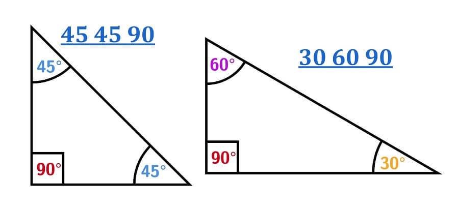 30 60 90 and 45 45 90 Triangles