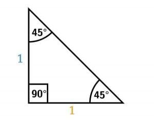 45 45 90 unit length