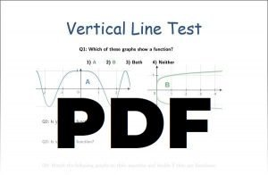 Vertical Line Test Worksheet PDF File