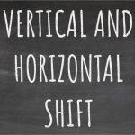 Vertical and Horizontal Shift Blackboard